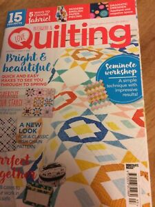 Love Patchwork and Quilting Magazine Issue 93 Magazine Plus Booklet