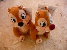 "NEW!! ""CHIP & DALE"", Mini Bean Bag Plush Set RETIRED- NWT"