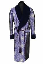 TOM FORD Robe ORNAMENT Bathrobe Dressing Gown 100% Silk Purple Silver SIZE M