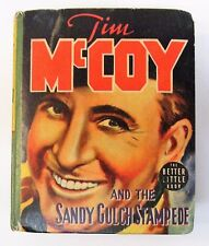 1939 TIM McCOY & SANDY GULCH STAMPEDE Whitman #1490 Big Little Book BLB exc tm