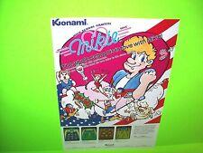 Konami MIKIE + SUPER BASKETBALL Original 1984 NOS Video Arcade Flyer Rare Japan