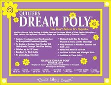 """Quilt Batting Quilters Dream Poly Deluxe Weighty Loft King Size 122"""" X 120"""""""