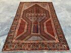 Authentic Hand Knotted Afghan Balouch Wool Area Rug 4 x 3 Ft (20718 HMN)