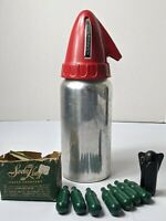 VINTAGE MID CENTURY SPARKLET SYPHON METAL SODA SELTZER DISPENSER with chargers