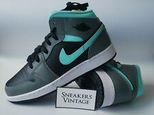 New Nike Air Jordan 1 Mid GS Aqua Blue Aurora Green Dark Smoke Grey 38 40 5 6 7