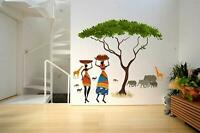 African Jungle Story Wall Sticker Decal Vinyl Art Mural Home Decor