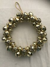 Martha Stewart Gold Winter Christmas Blossoms Jingle Bells Door Car Wreath