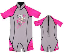 No Rules Shorty 2 mm Kids Pink Neoprene Surfing Wet Suit Waterski Swimsuit Rp