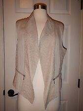 MSRP $99 NEW Chico's 0 = Size 4 Linen & Lace Pattern Fash Palamino Vest NWT