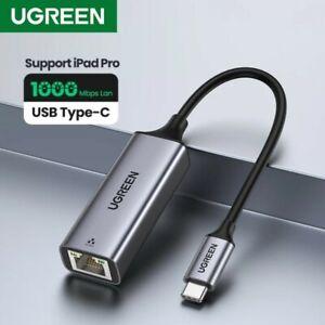 Ugreen USB C Ethernet Gigabit 1000Mbps RJ45 LAN Adapter Network Card Laptop AU