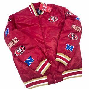 NEW NFL Ultra Game Men's San Francisco 49ers Satin Bomber Jacket PICK SIZE