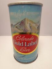 Gold Label Straight Steel Pull Tab Beer Can #69-30 Walter Brewing Colorado