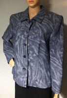 Fisser City Sport Womens Smart Linen Rich Jacket UK Size 18 EU 44 Blue Mix New