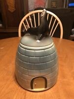 Vintage 1940's Igloo With Seal Cookie Jar By American Bisque RARE Find