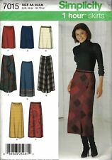 7015 Simplicity Sewing Pattern Misses' ONE PIECE WRAP SKIRT  Size AA XS,S,M