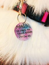 Magik Handmade Glitter Galaxy Pet Id Tag Dog Tag or Cat Tag Name Tag Key Chain