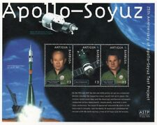 1975 APOLLO-SOYUZ Test Project / Cosmonaut Space Stamp Sheet 2000 Antigua
