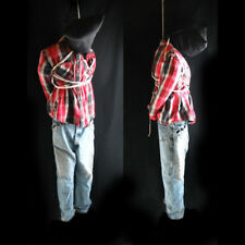 Life-size 6' Hanging Man Scary Zombie Haunted House Halloween Prop 72""