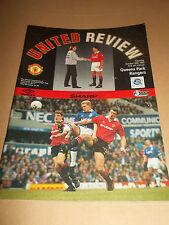 MANCHESTER UNITED V QPR 1993 PREMIERSHIP  FOOTBALL PROGRAMME