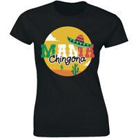 Mama Chingona with Desert Short Sleeve T-Shirt for Women