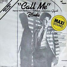 """BLONDIE """"CALL ME"""" 6198 339 CHRYSALIS GERMAN 12"""" PICTURE SLEEVE MAXI SINGLE 1980"""