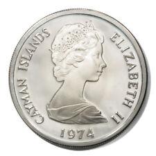 Cayman Islands Elizabeth II 5 Dollars 1974  Proof Silver KM8