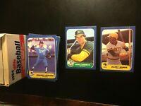 1986 Fleer Baseball Cards Update Set Barry Bonds Jose Canseco  Clark RC-NM-MT+🔥