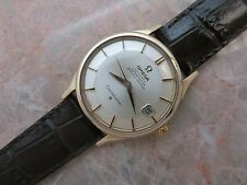 "1962 14K GOLD OMEGA CONSTELLATION ""Pie Pan"" Dial ""Dog Legs"" Lugs 14902/3 SC-62"