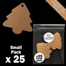 25 x Blank Buff/Manilla/Kraft/Brown Christmas Tree Tags Label/Gift Tag Pack