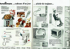PUBLICITE ADVERTISING 066  1967   Moulinex  (2 pag) Batteeur combiné Major  frit
