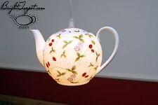 Teekanne Lampe, Bone China, Deckenlampe, Pendel Lampe. Teapot lamp. Coffee pot