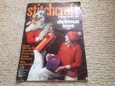 STITCHCRAFT Ladies Vintage Knitting Magazine December 1965