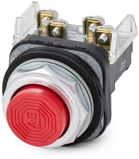 Allen Bradley 800T-B6A Push Button Red Extended Head Type 4,13 1 NO 1 NC NEW $60