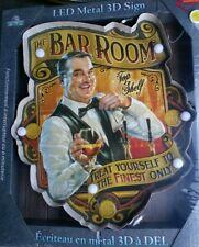 River Edge Hanging Wall Sign Lighted Bar Room LED Beer Liquor Retro Metal Tin