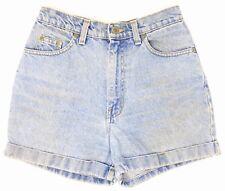 Vintage Blue Denim Mini Shorts 26W 8 Cotton Hot Pants Summer Festival High Waist