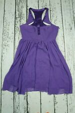 Versace for H&M Purple Corset Babydoll 100% Silk Chiffon Dress EUR 38 US8 UK12