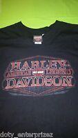 HARLEY-DAVIDSON MOTORCYCLES Men's Black T-Shirt Size Large American Legend
