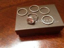 Silpada Cubic Zirconia Sterling Silver Stackable Ring Set Retired SZ 7 R1790