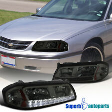 2000-2005 Chevy Impala Replacement Smoke LED DRL Headlights Amber Signal Lamps