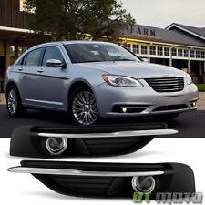2011-2014 Chrysler 200 Bumper Fog Lights Driving Lamps w/Switch+Bulbs 11-14 Set