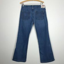 True Religion Jeans Sammy Flare Leg Medium Blue Denim Women's Size 30 x 31
