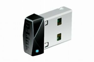 D-Link DWA-121 Wireless N 150 Micro USB Adapter, WPS, WPA2, 150 Mbps, Compatible