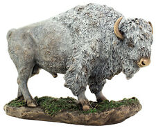 "Native American Sacred White Buffalo Bronze 7.25"" High Statue Reproduction"