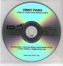 (CO412) Vinny Piana, Love Is Your Fear - DJ CD