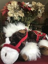 CHRISTMAS HOLIDAY HORSE PONY PLUSH, DANDEE VINTAGE SPARKLY MANE & TAIL HORSE