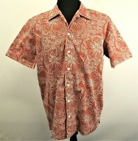 Columbia PFG Mens Vented Island Print Short Sleeve Cotton With Polyester Mesh