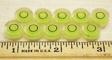 "LOT OF 10 SMALLER .458"" DIAMETER BULLS EYE BUBBLE LEVELS CAMERA RV LEVELING"