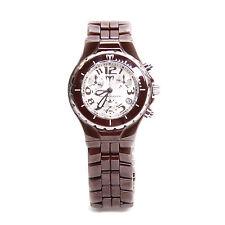TechnoMarine Brown Ceramic Chronograph Quartz Watch