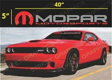 MOPAR MOTORSPOPRTS WINDSHIELD DECAL STICKER