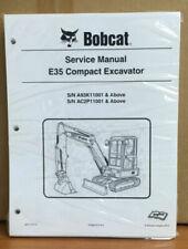 Bobcat E35 Compact Excavator Service Manual Shop Repair Book Part #  6987276